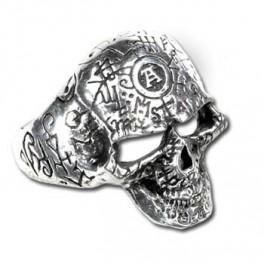 """Bague Alchemy Gothic """"Omega Skull"""""""