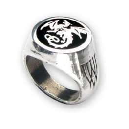 "Bague Alchemy Gothic ""Wyverex Dragon Signet Ring"""