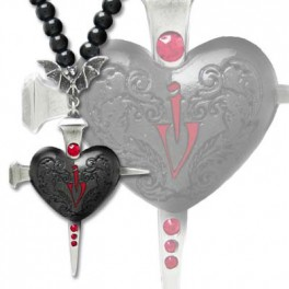 "Collier Alchemy Gothic ""Heart of Darkness"""