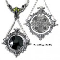 "Collier Alchemy Gothic ""The Obsidian Mirror"""