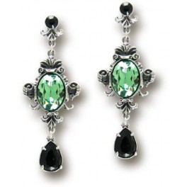 "Boucles d'oreilles Alchemy Gothic ""Queen of the Night"""