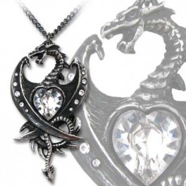 "Collier Alchemy Gothic ""Diamond Heart"""
