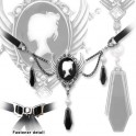 """Collier Alchemy Gothic """"Coffin Drop Cameo"""""""