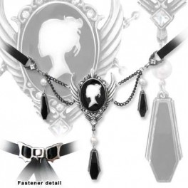 "Collier Alchemy Gothic ""Coffin Drop Cameo"""