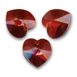Janvier - Pendentif en cristal de swarovski rouge grenat