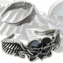 "Bracelet Alchemy Gothic ""Black Romance Bangle"""
