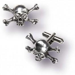 "Bouton de Manchette Alchemy Gothic ""Skull N Bones Stargazer"""