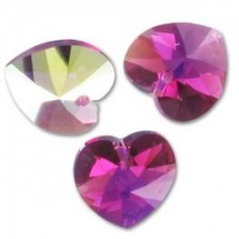 OCTOBRE - Pendentif en cristal de swarovski FUCHSIA