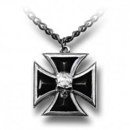 "Collier  Alchemy Gothic ""Black Knight's Cross"""
