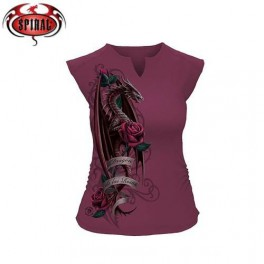 "T-shirt ""Dragon of the Roses"" de la collection Anne Stokes"
