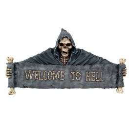 "Plaque murale ""Welcome to Hell"""
