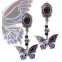 "Boucles d'oreilles Alchemy Gothic ""Death's-Head Butterfly"""