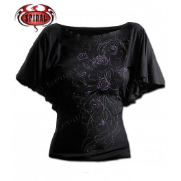 "T-shirt SPIRAL DIRECT Chauve souris ""Entwined"""