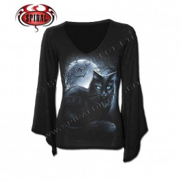 "T-shirt Femme Manches Longues ""Mystical Moonlight"""