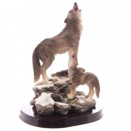 Figurine Louve et son louveteau