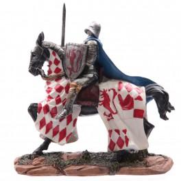 Chevalier des croisades sur cheval de guerre modèle D