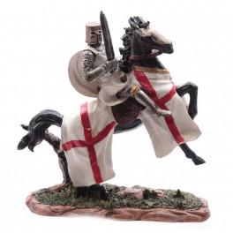 Chevalier des croisades sur cheval de guerre modèle B
