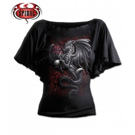 "T-shirt ""Dragon Rose"" Spiral Direct"