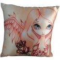 "Coussin ""Pale Rose"" de Jasmine Becket Griffith"