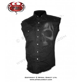 """Chemise Spiral Direct sans manches """"Shadow Skull"""""""