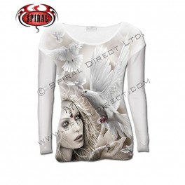 """T-shirt Spiral Direct manches longues """"Angel Doves"""""""
