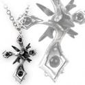 """Collier Alchemy Gothic """"Caltropp Cross"""""""