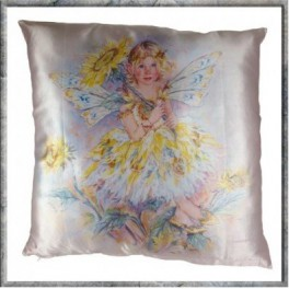 "Coussin ""The Sunflower Faerie"" collection Crisalis"