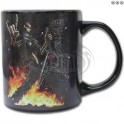 "Mug en céramique ""Rock Salute"" phosphorescent"