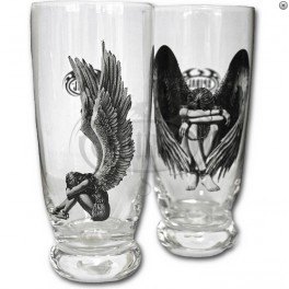 "Set de 2 verres à eau ""Enslaved Angel"""