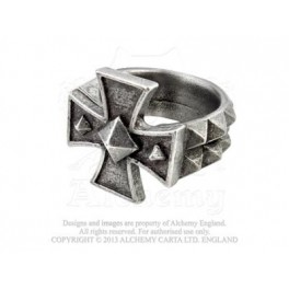 "Bague Alchemy Gothic ""Cross of Iron"""