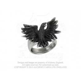 "Bague Alchemy Gothic ""Flocking Raven"""