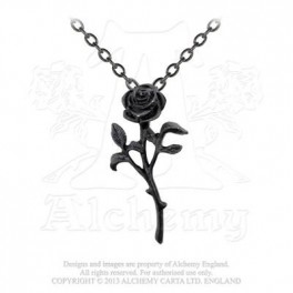 "Collier Alchemy Gothic ""The Romance Of Black Rose"""