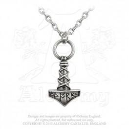 """Collier Alchemy Gothic """"Thor's Hammer Amulet"""""""