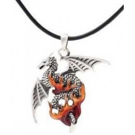 "Collier ""Dragon des flammes"""