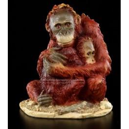 Femelle Orang-outan et son petit