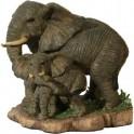 Elephante d'afrique et son petit