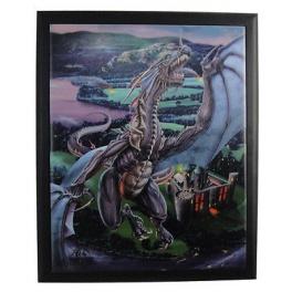 """Plaque murale """"Dragons Last Stand"""" de Tom Wood"""