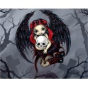 "Plaque murale ""Skull Stealer"" de Jasmine Becket Griffith"
