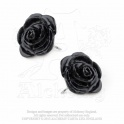 "Boucles d'oreilles Alchemy Gothic ""The Romance of Black Rose"""