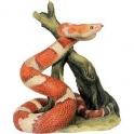 Statuette reptile serpent enroulé