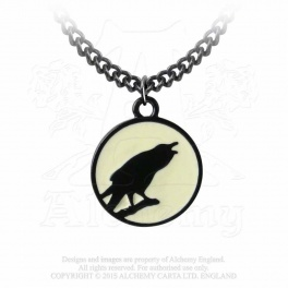 "Collier Alchemy Gothic ""Caw at the Moon"""