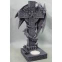 Bougeoir dragon et sa croix