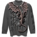"T-shirt Spiral Direct manches longues ""Oriental Dragon"""