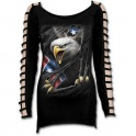"T-shirt manche longue Femme Spiral direct ""Rebel Eagle"""