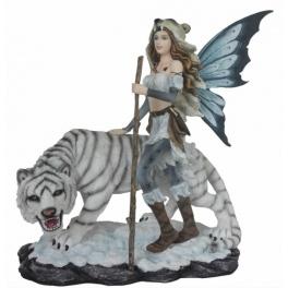 Fée chasseresse  et son tigre blanc