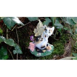 """Chat féerique ailé """"Tessa"""" de la collection Fairy Tails"""