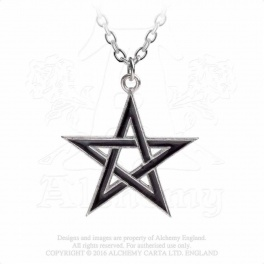 "Collier Alchemy Gothic ""Black Star"""