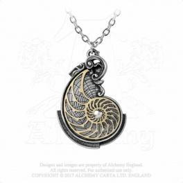 """Collier Alchemy Gothic """"Fibonacci's Golden Spiral"""""""