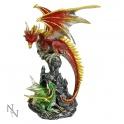 Dragon rouge et son petit