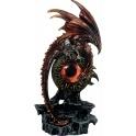 Dragon rouge Smaug perché sur l'oeil de Sauron
